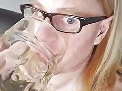 Brazenness piss drinking