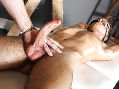 Sebastian Kane Strokes The Cum From Oli Jest - Oli Jest And Sebastian Kane