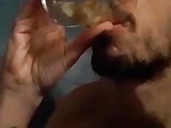 Fabio Baudino drinking his piss