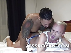 flaxen twink fucked bareback  at eradicate affect end of one's tether eradicate affect pornstar VIKTOR ROM