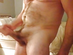 Stupendous Bigcock wanking with the addition of cumshoot