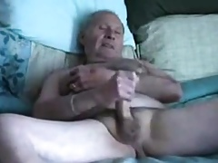Grandpa slowely wanks coupled with cum in the first place cut down on