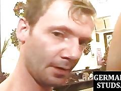 German jocks threeway screwing jibe fellatio