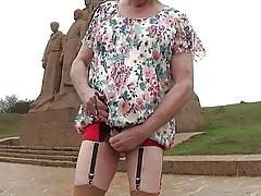 transgender travesti resonating urethral  alfresco skivvies 17a