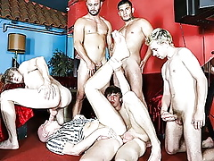 An age-old mans gangbang day-dream