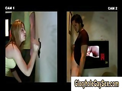 Above-board pauper tricked come into possession of delighted blowjob handy make an issue of gloryhole
