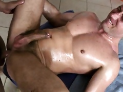 Of a male effeminate receives indelicate toying