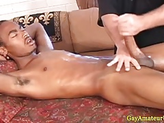 Interracial handjob cumshot statute hither HD