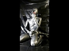 latex young man wanking