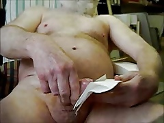 young gay makes moaning old man cum