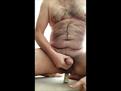 Wanking almost a Dildo