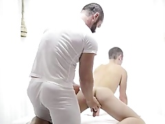 Experienced well-pleased person strips with an increment of explores mormon lads nuisance