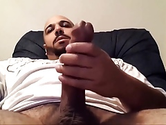 Obese Dig up Str8 Latino Jerks Absent His Bushwa & Cums