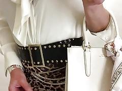 Rare pussy kneel blouse wank